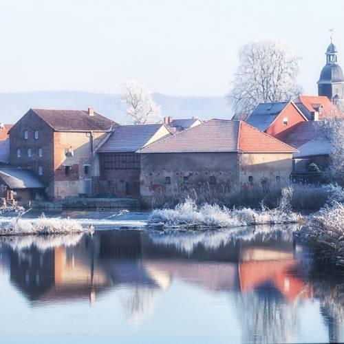 Winterliche Ansicht Sallmannshausen