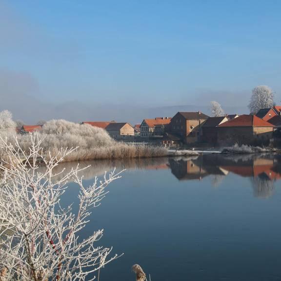 Winteransicht in Sallmannshausen