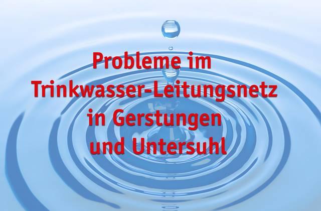 Probleme Trinkwasserleitungsnetz